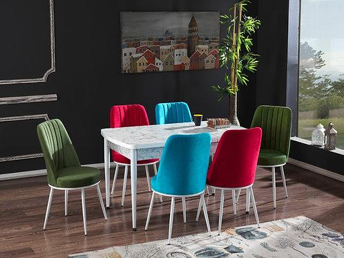 BEDİA MASA VE SANDALYE TAKIMI B + 4 veya 6 Sandalye Seçeneği, Salon, Mutfak