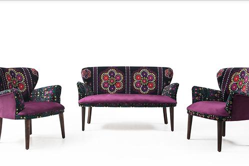 Rainbow B Çay Seti koltuk takımı (Balkon, Salon, Cafe, Ofis) 2+1+1