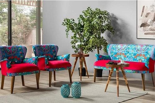 Rainbow F Çay Seti koltuk takımı (Balkon, Salon, Cafe, Ofis) 2+1+1