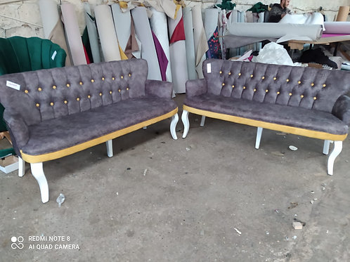 Bedia 2 adet üçlü koltuk (3+3), 150 cm uzunluk, çay seti işyeri