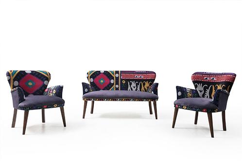 Rainbow Çay Seti koltuk takımı (Balkon, Salon, Cafe, Ofis) 2+1+1