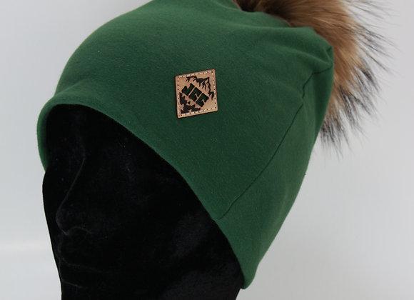 Tuque de coton / Vert forêt