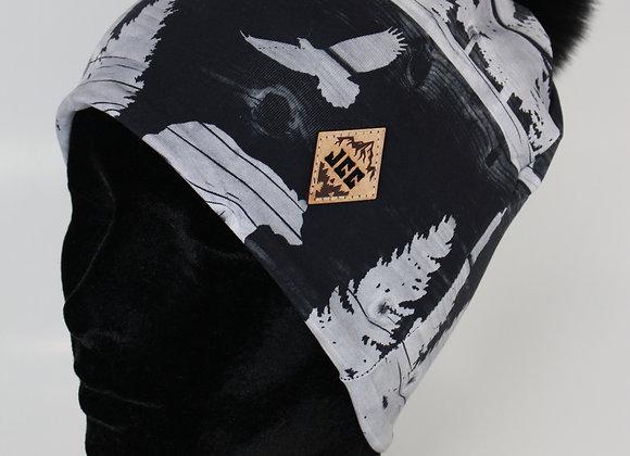 Tuque de coton / Forêt noir