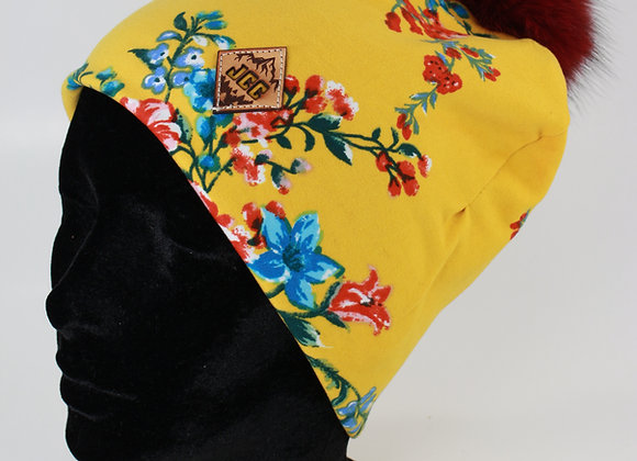 Tuque de coton / Fleurit jaune