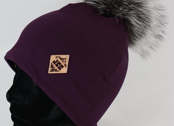 Tuque de coton / Violet