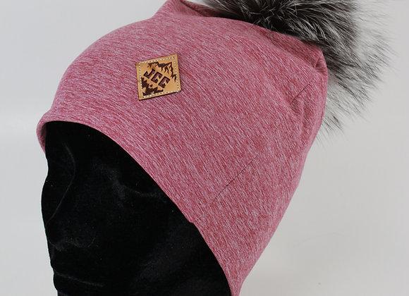 Tuque de coton / Le rose