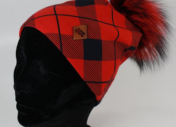 Tuque de coton / Carreauté moderne