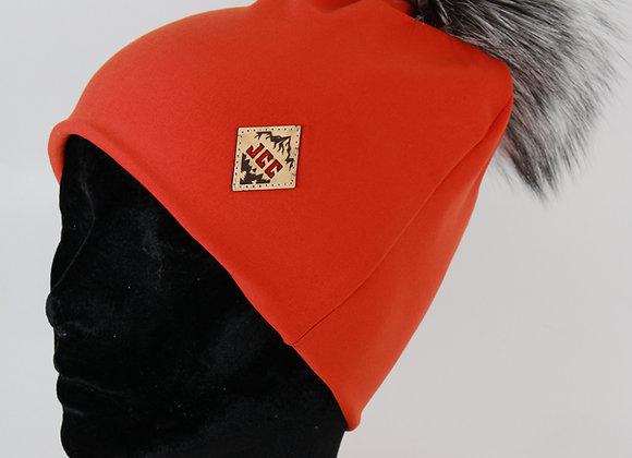 Tuque de coton / Orange feu