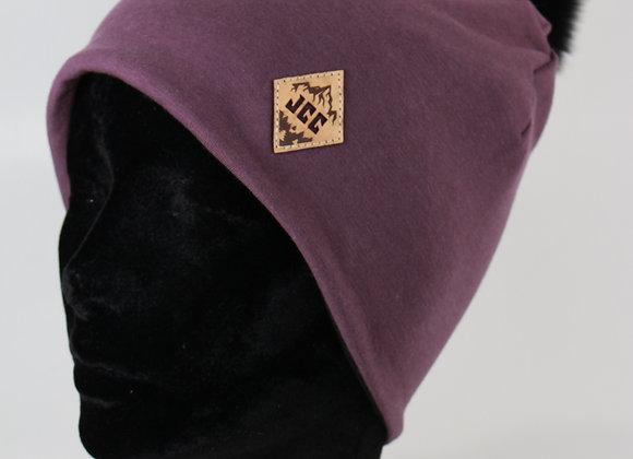 Tuque de coton / Prune