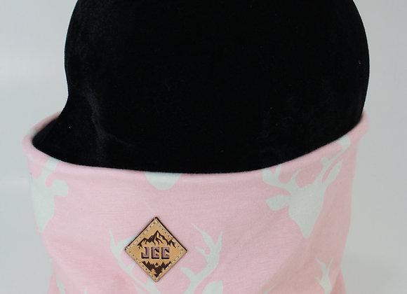 Cache-cou / Tête de chevreuil rose