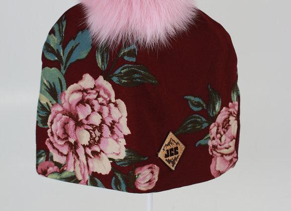 Tuque de coton / Fleurit bourgogne