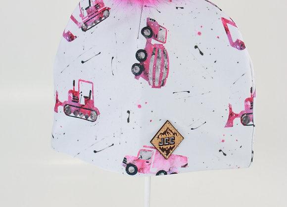 Tuque de coton / Camion rose
