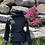 Thumbnail: Chandail gros col / noir torsadé 3D