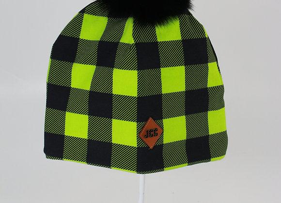 Tuque de coton / Carreauté vert