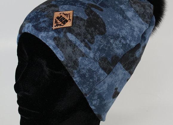 Tuque de coton / Camo bleu