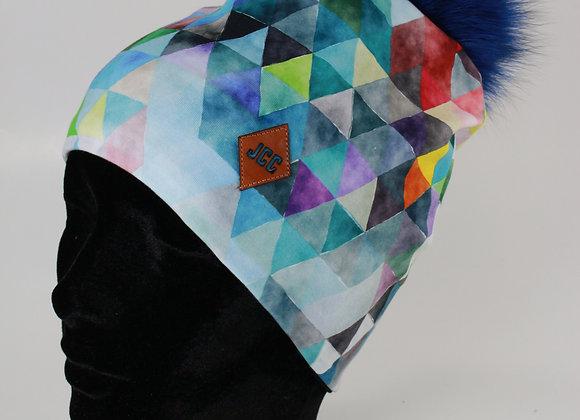 Tuque de coton / Triangle colorés
