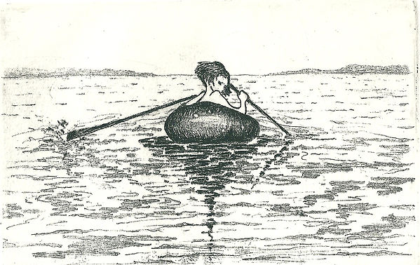 A child in a small rowing boat