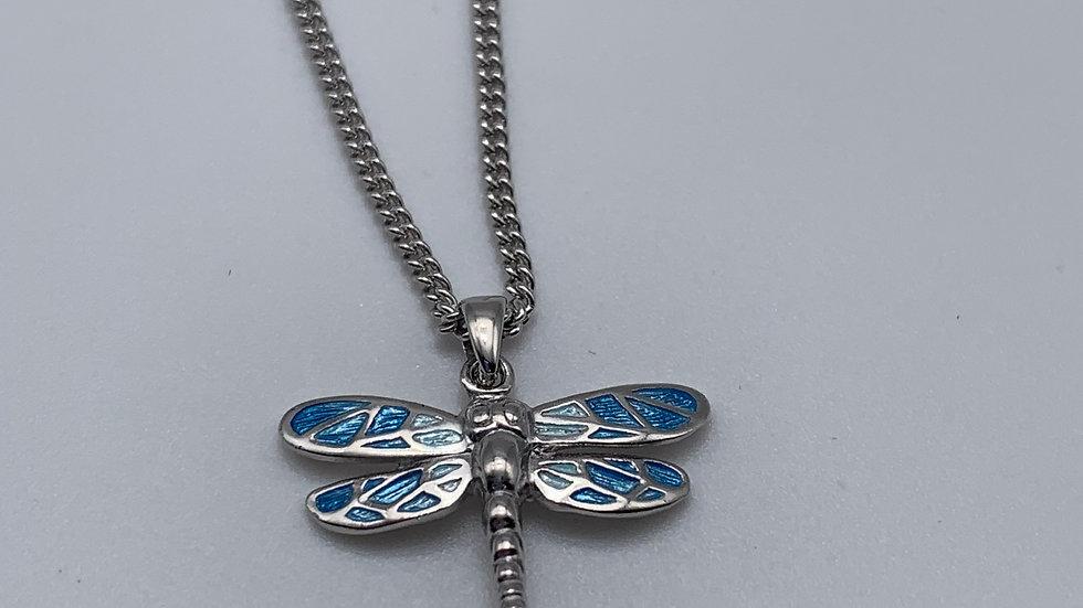 silver Enamel necklace