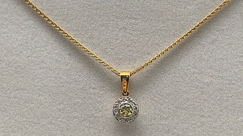 18ct yellow gold Yellow Diamond necklace