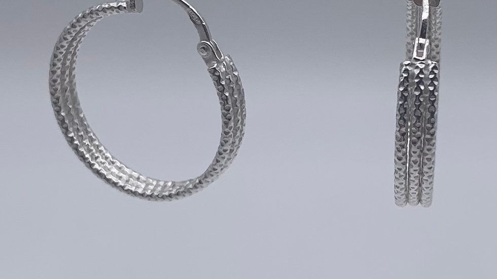 Silver 3 strand wire hoops