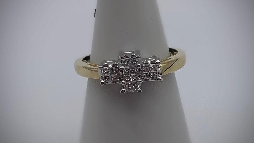 18ct yellow gold 0.25ct Diamond ring