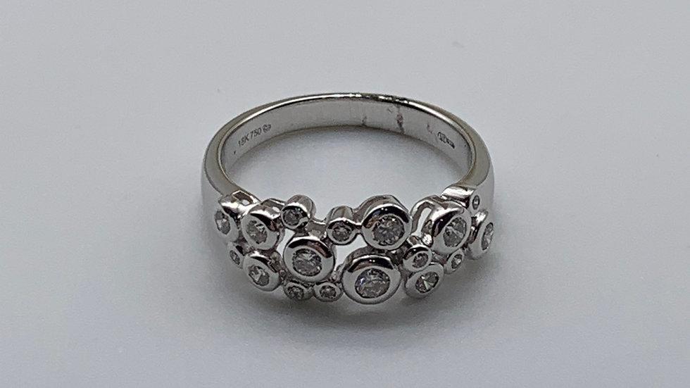18ct white gold Diamond rhapsody ring
