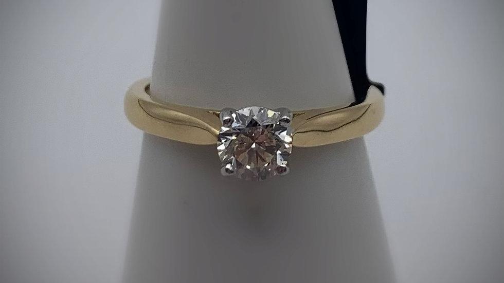 18ct yellow gold 0.53ct Diamond ring