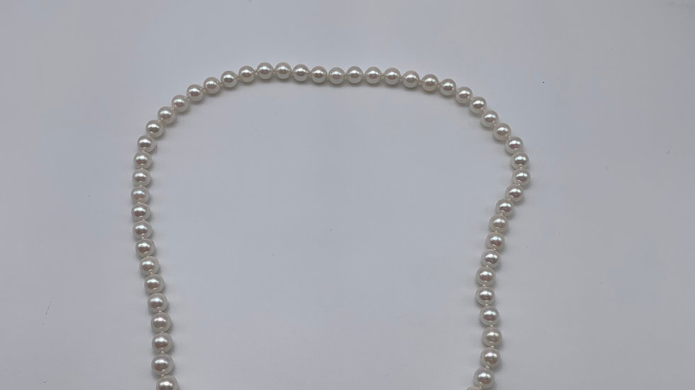 9ct yellow gold Cultured Pearl necklace