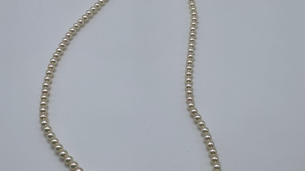 """16"""" 9ct yellow gold Cultured Pearl necklace"""