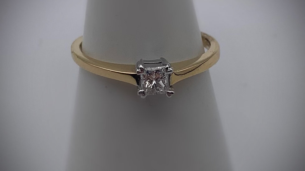 18ct yellow gold 0.24ct Diamond ring
