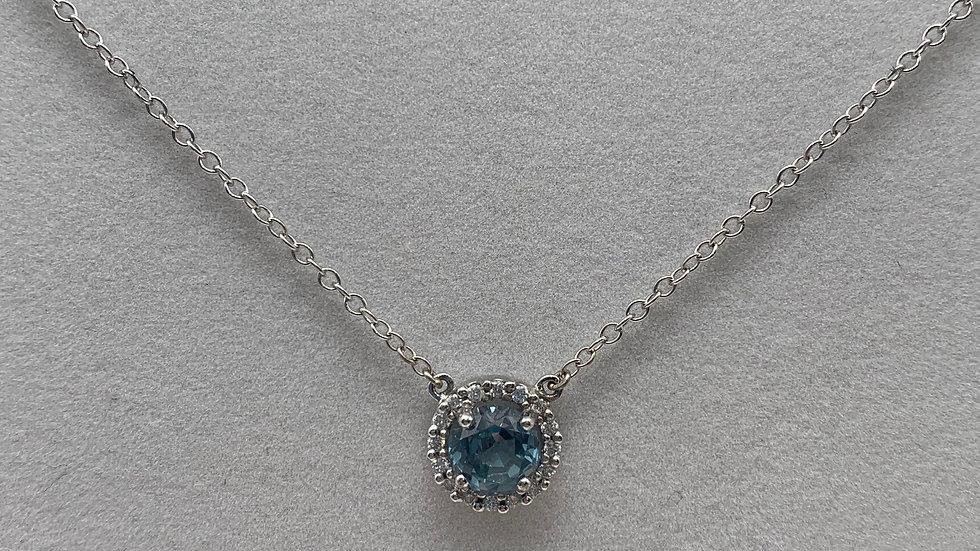 Preowned Diamond & Topaz necklace