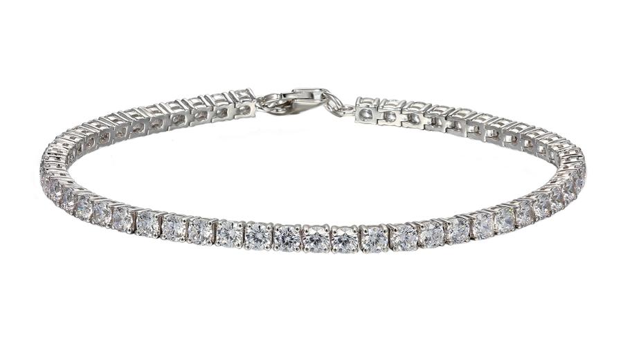 Silver Cubic Zirconia claw set Tennis bracelet