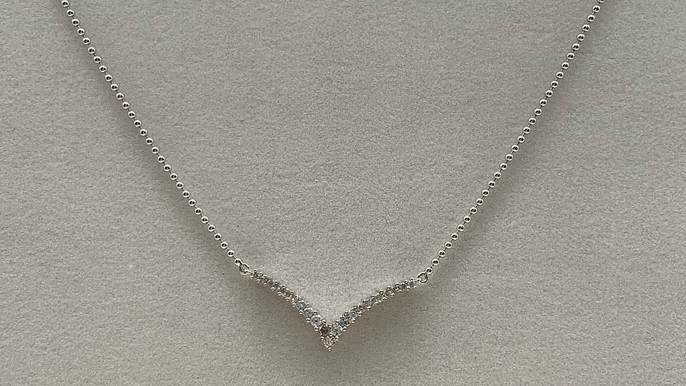 Pre-Owned 18ct white gold Diamond necklace