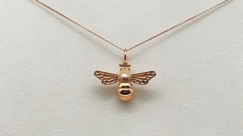9ct Rose gold Bee necklace