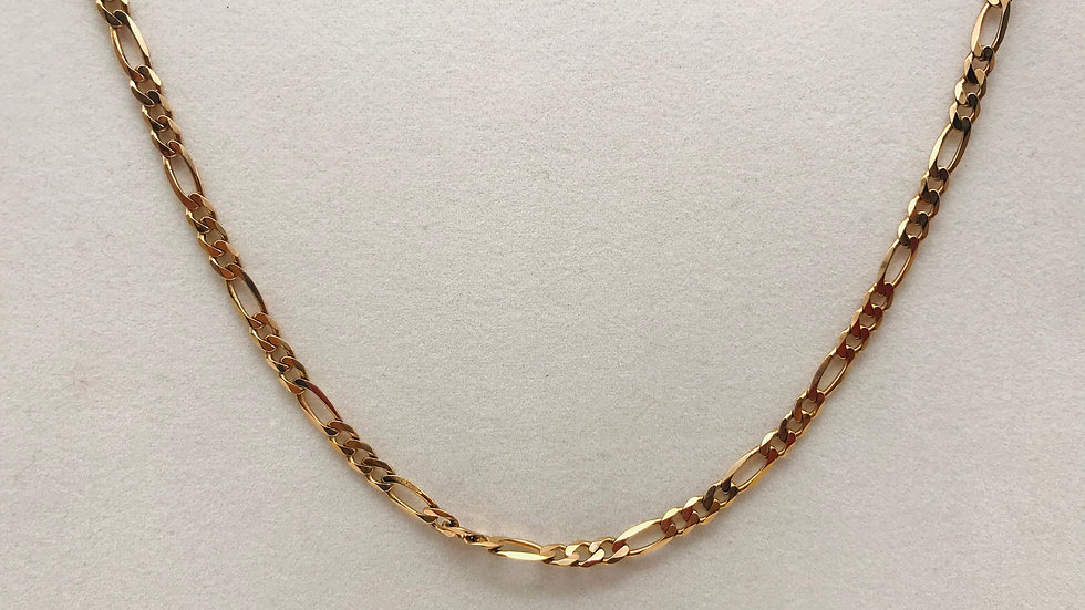 Pre owned 9ct Rose gold Figaro necklace