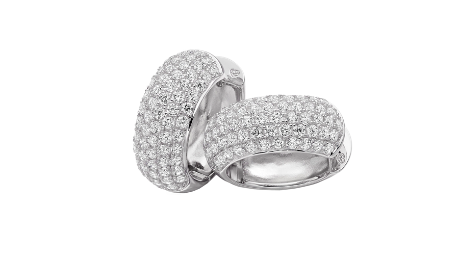 Silver Cubic Zirconia pave earrings