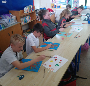 Pointillism in 5th class