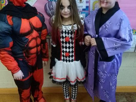 Ms Wogan's class dress up for Halloween!