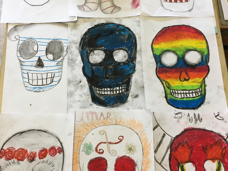 "6th Class ""Día de Muertos"" Halloween Art"