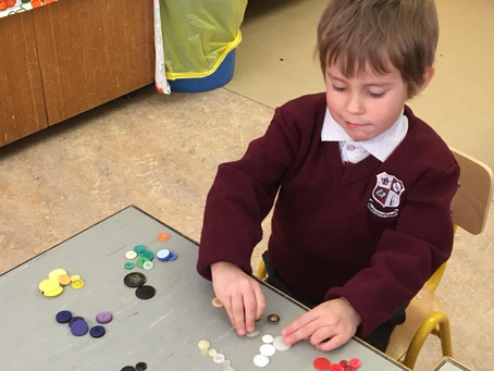 Ms Iversclass are having fun settling into school! We are learning to sort during maths.
