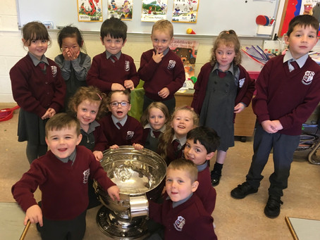 Junior Infants and the Sam Maguire Cup 🏆