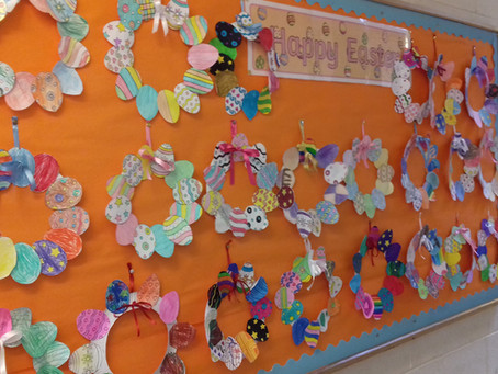Easter Artwork in Mr Lawlor's 5th Class