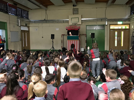 Puppet Show Fun for Infants and 1st class during Arts Week 2019