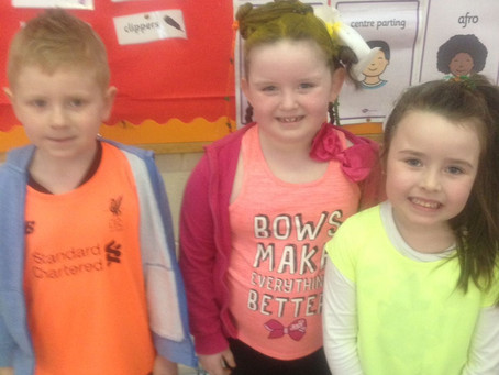 Crazy hair day in Ms.Iversclass