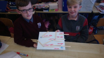 We have been learning about angles this week in 5th class.