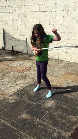 Look at these Hula-Hoop skills!