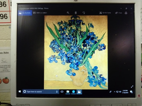 In Ms Kearns' class, we have been learning some facts about the great artist Vincent Van Gogh. W
