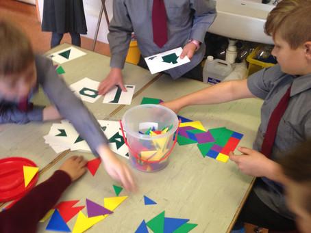 Tangram fun in 3rd Class