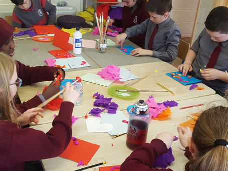 Valentines Day Art in Room 10