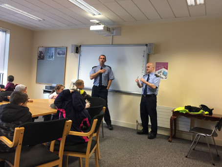 Garda Station visit for Ms. Lee/ Ms. Breen's class